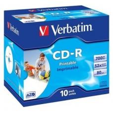 CD VERBATIM PRINT 700MB 10U en Huesoi