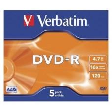 DVD-R VERBATIM 4.7GB 5U en Huesoi