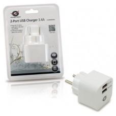 CARGADOR 2X USB CONCEPTRONIC PARED 3.4A (Espera 4 dias) en Huesoi