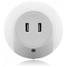 Enchufe Punto Luz LED Cálida con Sensor + 2 Puertos Carga USB (Espera 2 dias) en Huesoi