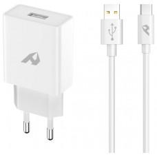 ADAPTADOR DE RED ENJOY 1 USB QC 30 5V/3A 9V/2A 12V/15A 18W MAX TIPO C 1M BLANCO en Huesoi